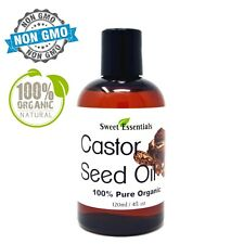 Organic Castor Seed Oil | 4oz | Imported From India | 100% Pure | Cold Pressed