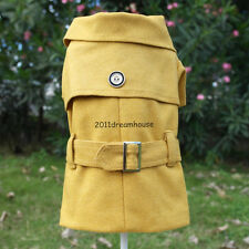 NEW 2014 Autumn Winter Luxury Dog Outcoat Pet Coat Dog Apparel Khaki Yellow