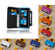 NEW STYLISH LUXURY WALLET FLIP CASE COVER FOR NOKIA LUMIA 800 + SCREEN PROTECTOR