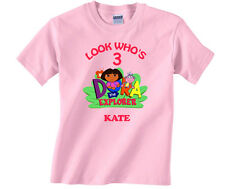Personalized Custom Dora the Explorer and Boots Birthday Shirt Gift