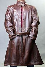 WATCH DOGS - AIDEN PEARCE - GAME COW HIDE LEATHER TRENCH COAT JACKET BNWT