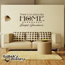 There's No Place Like Home Except Grandma's Vinyl Wall Decal quote sticker L079