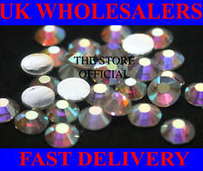 Flat Back Resin Rhinestones 14 Facets clear AB x 2000, 2mm 3mm 4mm 5mm