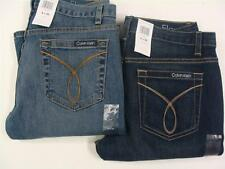 Calvin Klein Women's Flare Denim Blue Jeans in Assorted Sizes and Shades NWT