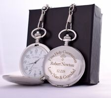 Personalised Pocket Watch Gift Idea For First Holy Communion/Confirmation/Boys