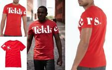 Red White Tekkers Tee Mens T-Shirt Top 100% Cotton RRP £14.99