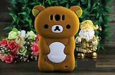 Cute 3D Lovely Relax Teddy Bear Silicone Case Cove For HTC Mobile Phones