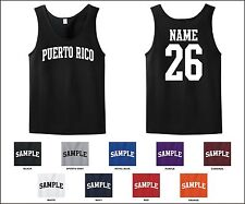 Country of Puerto Rico Custom Personalized Name & Number Tank Top Jersey T-shirt