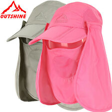 Summer Womens and Mens Sun Protection Windproof Fishing Cap Neck Face Flap Hat
