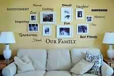 OUR FAMILY Vinyl Lettering Words Wall Art Quote Sticky Decals Family IS
