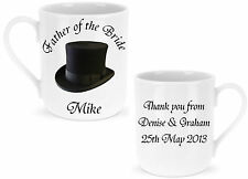 Personalised Father of the Bride / Groom / Best Man Mug Wedding Favour Gift