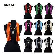 10 COLORS Fashion Jewelry Scarf Necklace Silver BUTTERFLY Pendant Charm Tassel