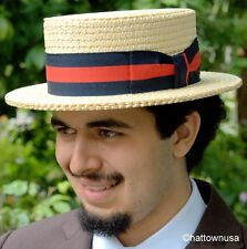 NEW Straw Boater Hat Italian Skimmer Sailor Election Campaign Barbershop Quartet