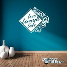 Live Laugh Love Vinyl Wall Decal Quote home decor art frame spiral sticker L100