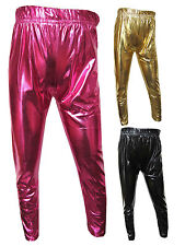 Girls New Wet Leggings Gold, Cerise or Black Shiny Party / Casual 3Y-12Y