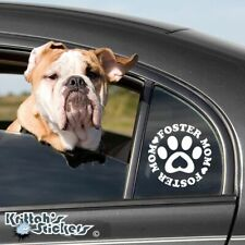 Foster Mom Dog Paw Vinyl Decal pet adoption animal rescue heart car sticker K511