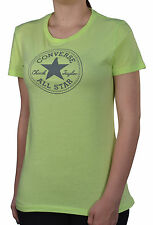 """Converse Women's """"Chuck Taylor All Star"""" Stamp Graphic Shirt-Lime Green"""