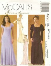2003 Evening Elegance Empire Regency Dress Pattern Choice 4-18 McCall's 4296 OOP