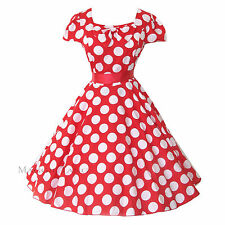 Maggie Tang 50s VTG Pinup Polka Dot Rockabilly Swing Dress 4 Cos Party R-516