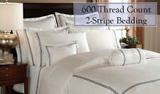 600 Thread Count 100% Egyptian Cotton 2 Stripe Sheet Set / Duvet Set