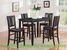RECTANGULAR PUB COUNTER HEIGHT TABLE 30x48 FINISHED IN BLACK, CHAIR NOT INCLUDED