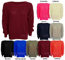 Nouvelle robe mesdames fish net top pull en mailles longsleeve sweater one size 8-14uk