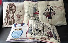 """Tapestry Cushion Covers in lots of fantastic designs, 18""""x18"""", dogs and cats inc"""