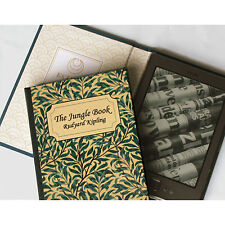 Beautiful Hand-bound Classic Book Cover Case for Amazon Kindle 4 e-Reader
