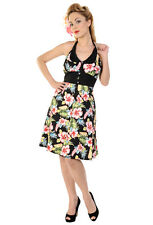 Banned Black Hawaiian Print Party Prom Rockabilly 50s Vintage Pinup Dress