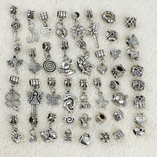 BULK/WHOLESALE Tibetan Silver Mixed European Charm Bracelet Antique Beads
