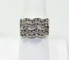 Marcasite Ring .925 Sterling Silver  Size 6, 7, 8 & 9