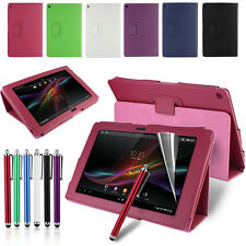 "PU Leather Case Cover For 10.1"" Sony Xperia Tablet Z Tablet UK-Stock"