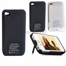 Backup External 3000mAh Battery Charger Case Cover For IPhone 4 4S Power Bank US