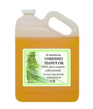 PEANUT OIL UNREFINED BY DR.ADORABLE ORGANIC 100% PURE COLD PRESSED 2oz-UP TO 7LB
