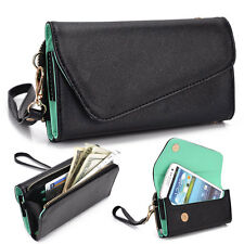 Kroo Fall Flip Designer PU Leather Smartphone Wrist-Let Cover Pouch Bag Guard G1