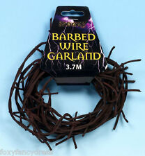 Rusty Soft Barbed Wire Garland Decoration Halloween Party Barb Wire 1,2,or 3