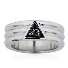 Free Mason Ring - Silver Color 33rd Degree Freemasonry - Steel Masonic Rings
