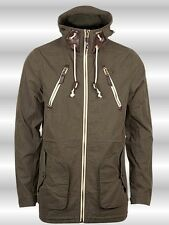 NEW MEN'S FLY53 RUSHEN HOODED CASUAL PARKA DESIGNER JACKET OLIVE SIZE S - XL