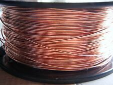 Copper Wire Premium 99.9% Pure Half Hard Round Solid Uncoated Gauges 16 to 22