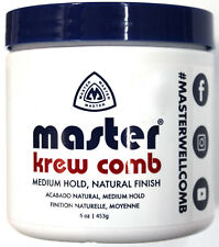 MASTER WELL COMB KREW COMB EXTRA SUPER HOLD HAIR STYLING PREP (4, 10, 16 OZ.)