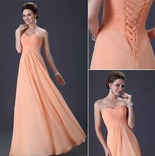 Prom Bridesmaid Gown Chiffon Cocktail Party Formal Evening Long Dresses In Stock