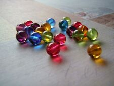 Glass Beads Round Druk Smooth Czech Glass 8 mm Choice of Color 20 Beads