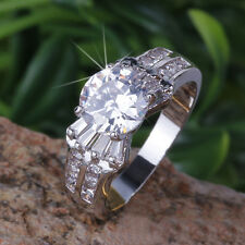 1ct CREATED Brilliant Diamond 18k White GP Ring *0010* choose your ring size