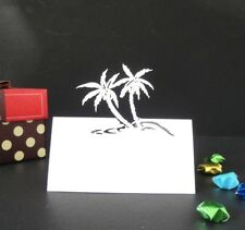 50pcs Beach Tree Shape Name place card for wedding favours,Table Decoration