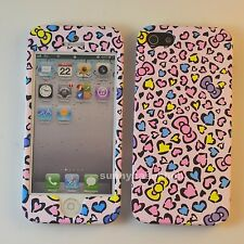 Cute PINK LEOPARD Fullbody front back hard case cover for Apple iphone 5s  4S 5