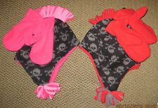 Skull and Crossbones FLEECE MOHAWK Toddler Hat with Mittens Ages 2-4 Virtis Hat