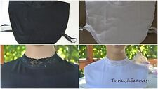 %100 TURKISH STRETCHY COTTON LACED COLLAR ELASTICNECK COVER  HIJAB ISLAMIC SCARF