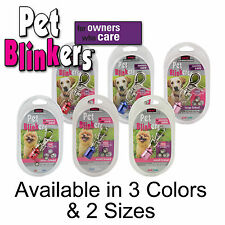 New Pet Blinkers Safety Lights, Blue, Red, and Pink Large and Small Dogs Breed