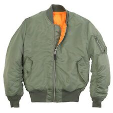 ALPHA INDUSTRIES OLIVE MA-1 FLIGHT JACKET