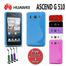 S-Line Gel Silicone Case Skin Cover For Huawei Ascend G510 U8951 T8951 +3 EXTRAS